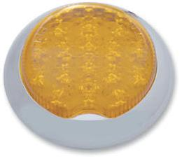Pro 1 Flush Mount Dual Function LED Amber Lens Round Tail Light & Turn Signal
