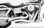 Freedom Performance Exhaust Sharp Curve Radius for 1991 - 2005 Dyna Models - Chrome