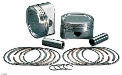 Wiseco Piston Kit for 1985 - 1999 Evo Big Twin Standard Size 10:1 With Hastings Rings