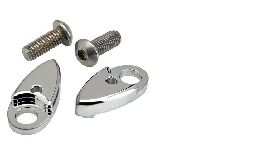 Joker Machine Chrome Astro L.E.D. Fender Strut Adapters for Softails