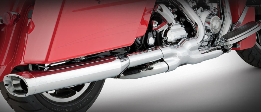 Vance and Hines Power Duals for HD Touring Models 2010 - 2016 - Chrome