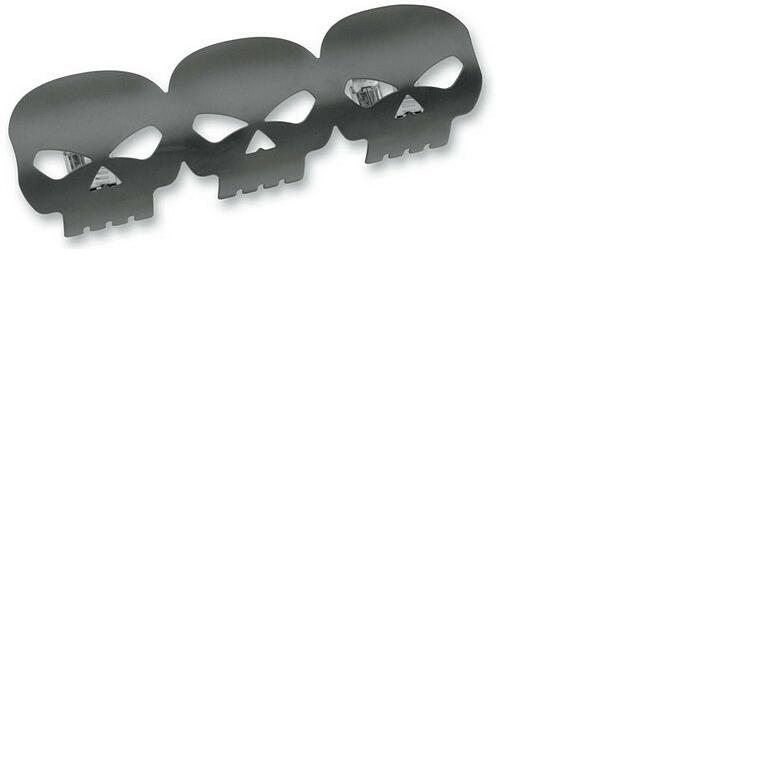 Drag Specialties Skull Heat Shields - Black
