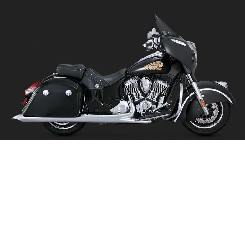 Vance and Hines Turn Down Slip On Mufflers for 2014 - 2018 Chief Classic & Vintage