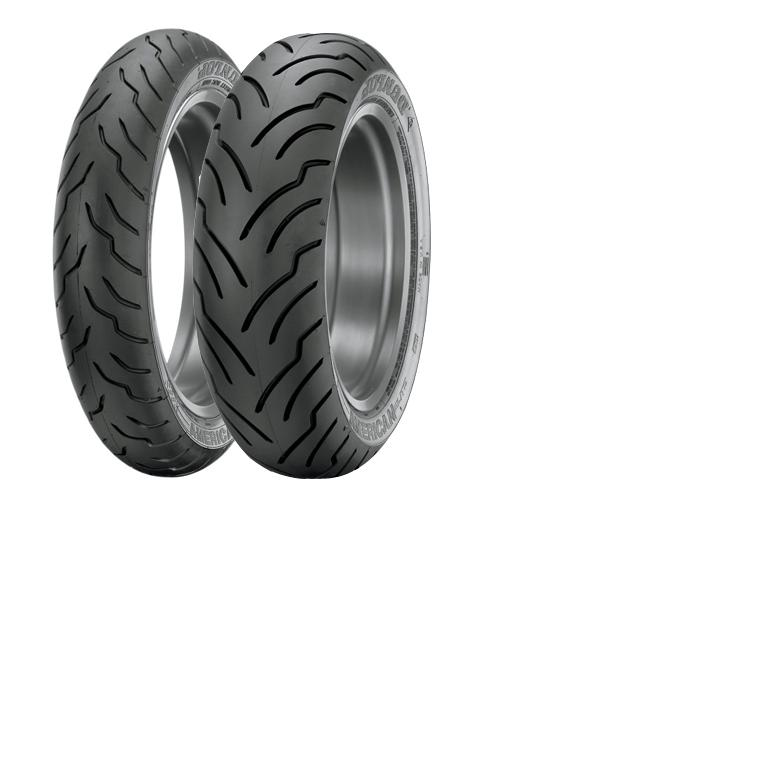 Dunlop American Elite Premium Replacement Tires - Front - MT90B16 Blackwall