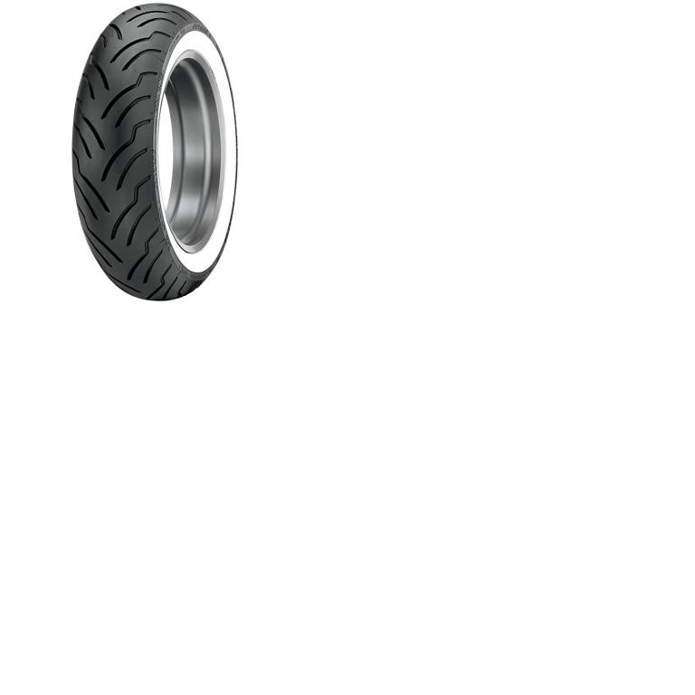 Dunlop American Elite Premium Replacement Tire - Rear - 180/65B16 Wide White Wall