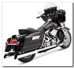 Bassani 4 Inch Slip-On Mufflers for 1995 - 2016 HD Touring Models - Slant Cut