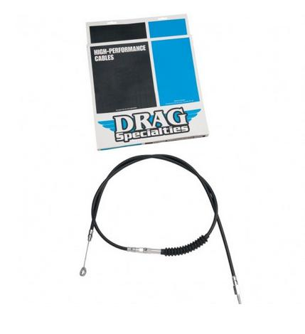 Drag Specialties Black Alternative Length Clutch Cable for 1987 - 2006 Big Twin & 1986 - 2013 XL - 52 Inches Long