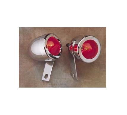 Drag Specialties Bullet Marker Light with Side Mount - Left Mount - Red