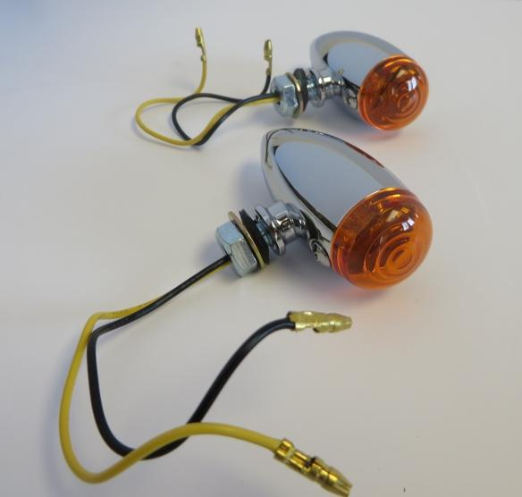 Chrome Amber LED Turn Signals