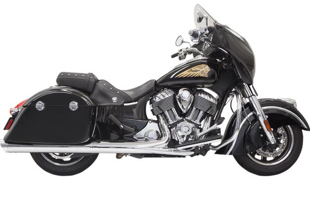Bassani 4 Inch Performance Slip On Mufflers for 2014 - Up Indian Chieftan with Hard Bags