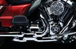 Kuryakyn Crusher Dual Exhaust with Power Cell for Touring & Trike 2009 - 2016 - Chrome