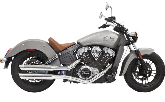 Bassani Classic 3 Inch Slip on Mufflers for Indian Scout 2015 - Up - Chrome