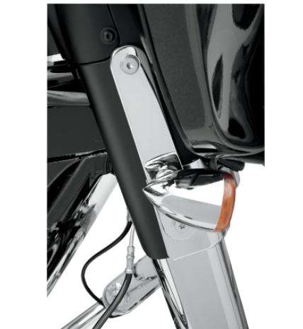 Drag Specialties Turn Signal Relocation Mounts for 1997 - 2013 FLT, FLHT, FLHR & FLHX - Chrome