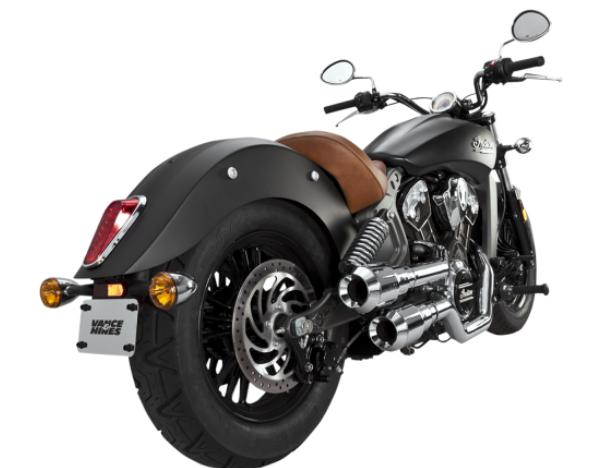 Vance and Hines Hi Output Grenades for Indian Scout - Chrome