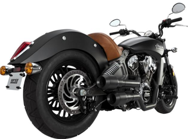 Vance and Hines Hi Output Grenades for Indian Scout - Matte Black