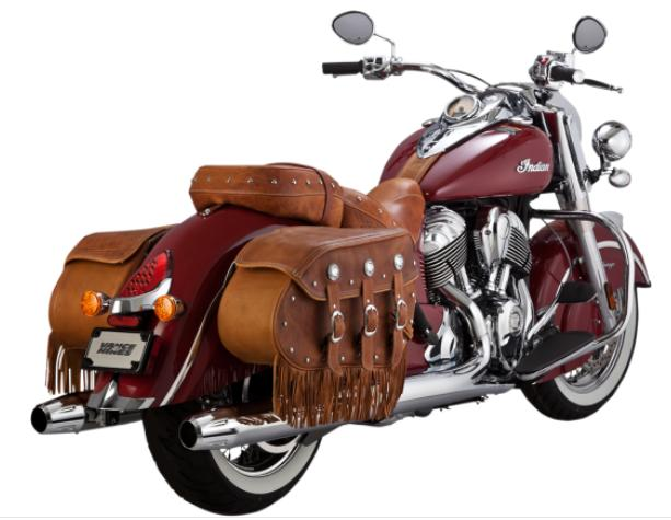 Vance and Hines Classic Slip On Mufflers for 2014 - Up Indian Chief, Chief Classic and Chief Dark Horse - Chrome