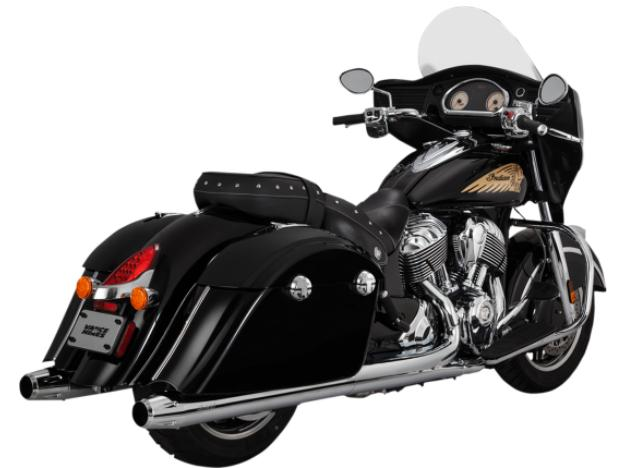 Vance and Hines Classic Slip On Mufflers for 2014 - Up Indian Chief Roadmaster and Chieftain - Chrome