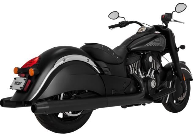 Vance and Hines Classic Slip On Mufflers for 2014 - Up Indian Dark Horse - Black