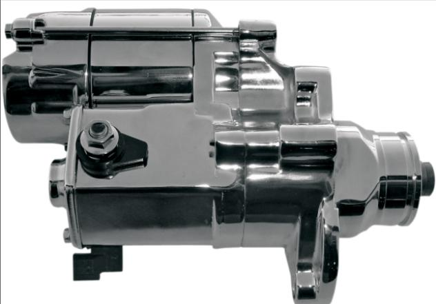 Terry Components 1.2 KW Starter for 1990 - 1993 Evo Models - Chrome