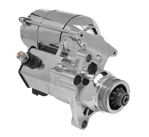 Arrowhead Starter Motor for 2007 - Up Twin Cam Models - Polished