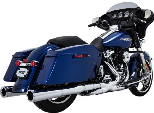 Vance and Hines Power Duals for 2017 - Up HD Touring Models - Chrome