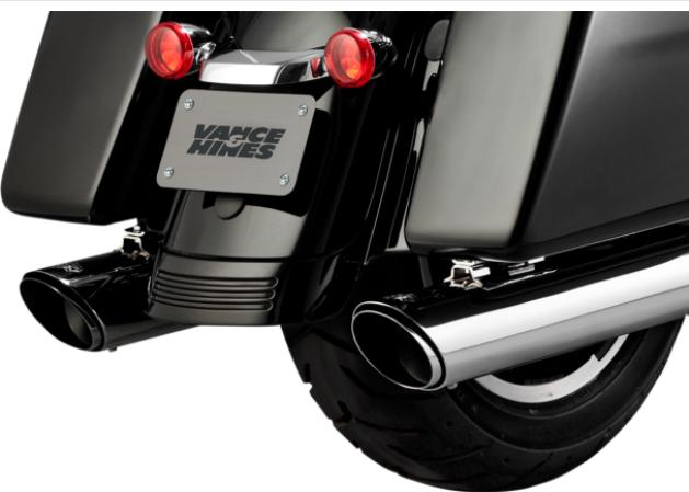 Vance and Hines Twin Slash Round Slip On Mufflers for 2017 - UP HD Touring Model