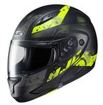 HJC CL-Max 2 Friction Semi Flat Black / Hi Viz Yellow Helmet - Large