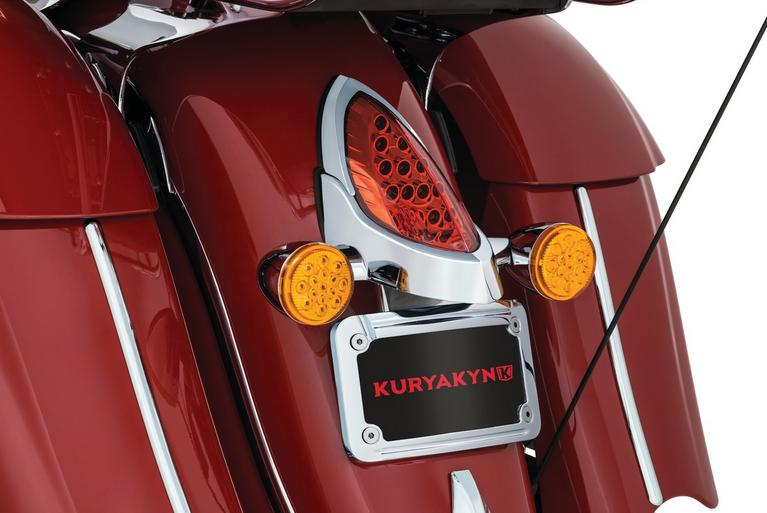 Kuryakyn L.E.D. Curved License Plate Frame with Mount for Indian
