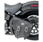 All American Luggage Swingarm Storage Bag for FXS,GXST,FLS & FLST Softail 2000 - 2017 - Black Ruffhyde with Twin Buckles and Accent Studs