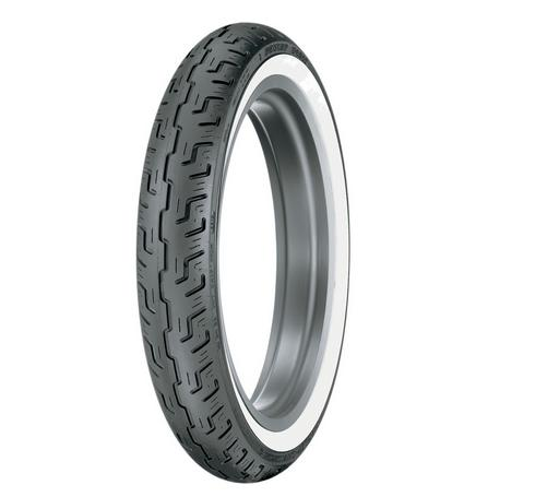 Dunlop 100/90-19 57H D401 Wide White Wall Harley Davidson OE Front Tire
