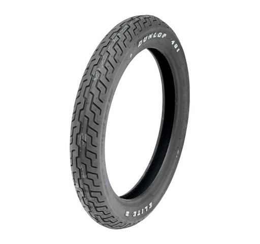 Dunlop 130/90B16 67H D491 Elite II Raised White Letter Front Tire for Victory