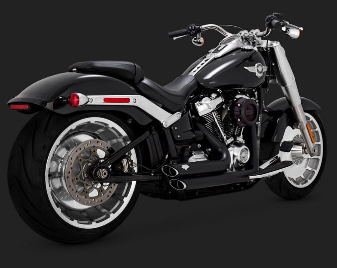 Vance and Hines Short Shots Staggered for 2018 Softails & 2019 FXDR - Black