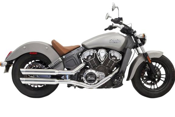 Bassani 3 Inch Slip On Mufflers for 2015 - UP Scout, Scout Bobber and Scout 60 - Chrome