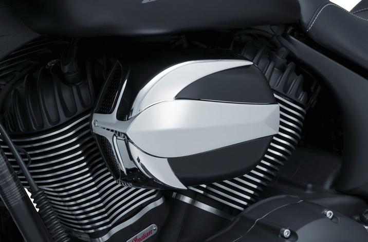 Kuryakyn Signature Series Vantage Air Cleaner for Indian - Chrome And Black