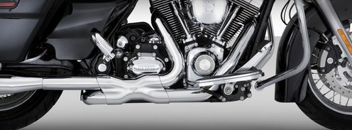 Vance and Hines Power Duals Exhaust For Touring Models 2009 - 2016 - Chrome