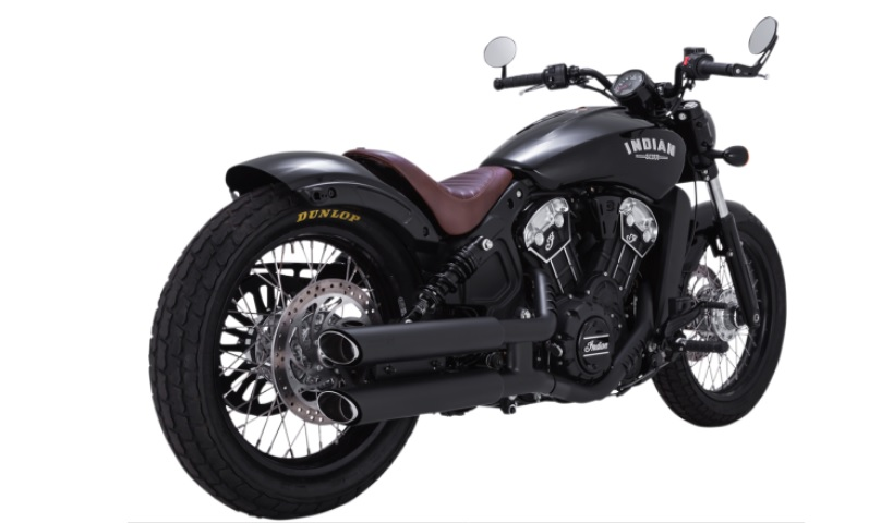 Vance and Hines Twin Slash 3 Inch Slip on Mufflers for Scout and Scout Bobber - Black