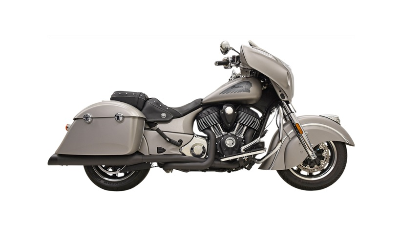 Bassani True Dual Performance Exhaust for 2014 - 2019 Indian Chieftain - Black with Black End Caps