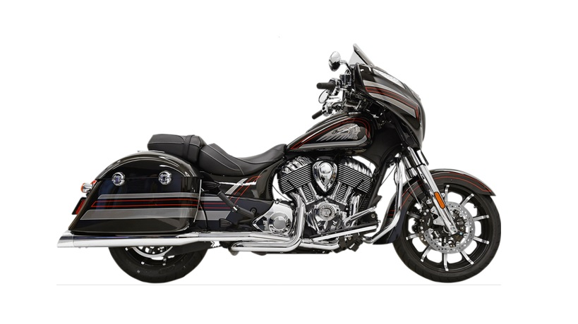 Bassani True Dual Performance Exhaust for 2014 - 2019 Indian Chieftain - Chrome with Polished End Caps