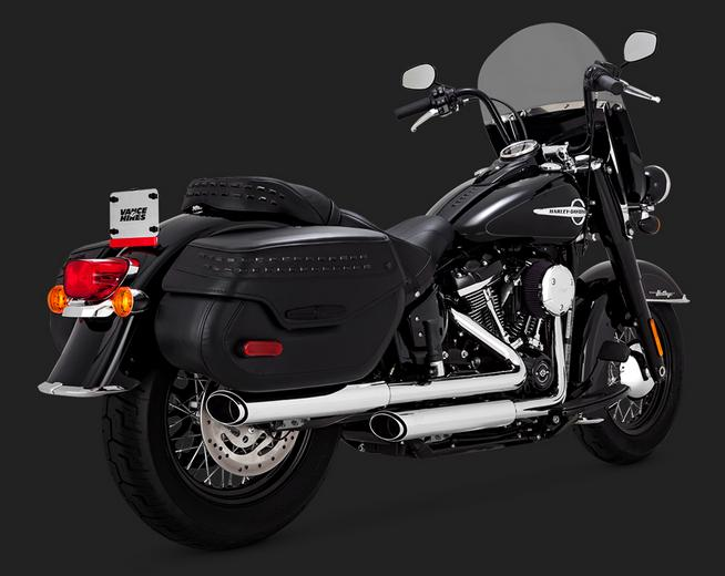 Vance and Hines Twin Slash Slip On Mufflers for 2018 - Up Softail Deluxe and Classic
