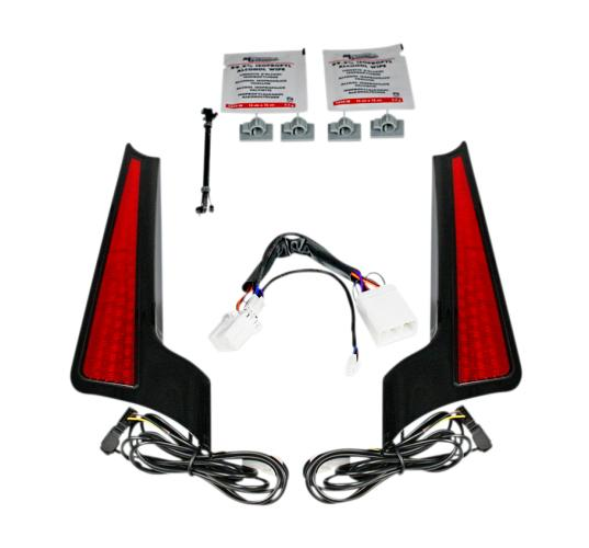 Custom Dynamics Facia LED Panel for 2006 - 2009 Road Street Glide - Gloss Black with Red Lenses