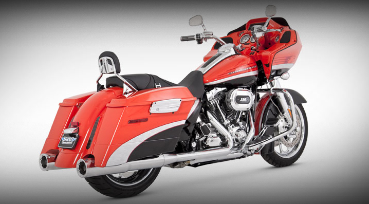 Vance and Hines HI Output 4 1/2 Inch Slip-Ons for 1995 - 2016 Touring Models - Chrome