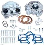 S&S Super Stock Cylinder Heads for Shovelhead 1979-1984 Rubber Band Intake(Natural, STD BORE)