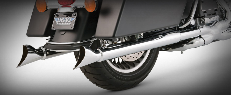 Vance and Hines 3 Inch Fishtail Slip On Mufflers for 1995 - 2016 HD Touring Models