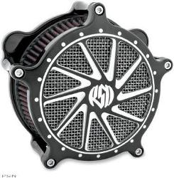 Roland Sands Design Air Cleaner - Ronin Contrast Cut for Touring models 2008 - 2014