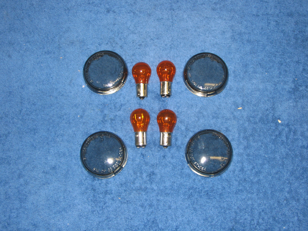 Smoked Turn Signal Lens Kits for Deuce Style Signals