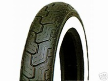 Dunlop D402 MT90-16 Front Tire Wide White Wall