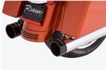 Rinehart 4 Inch Slip On Mufflers for 1995 - 2016 Touring Models - Chrome with Black end caps - <b>CALL FOR BEST PRICE</b>
