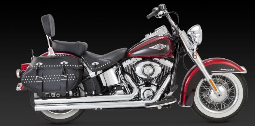 Vance and Hines Big Shots Long for 2012 - 2017 Softails
