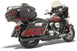 Bassani Road Rage II 2-Into-1 B4 Power System for 1995 - 2016 FLHT/FLHR/FLHX/FLTR Models - Straight Muffler, Black
