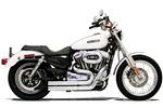 Bassani Firestorm Exhaust w/ Straight Cut Ends for 2007 - 2013 Sportster - Chrome